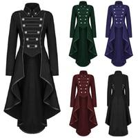 New Medieval Cos Lady Lapel Tuxedo with Irregular Hem Retro Blouse In 2019 Medium and Long Women's Coats Denim Jacket