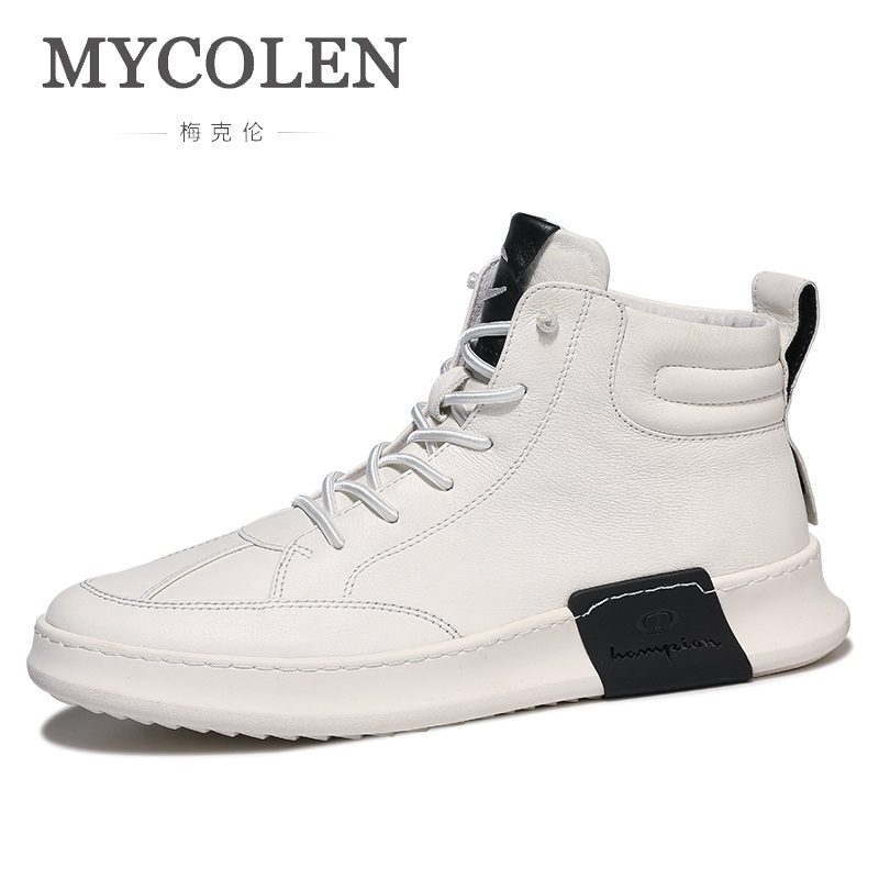 MYCORON Autumn And Winter New Men Shoes The Trend Of Wild Shoes Lace-Up Top Brand Men Shoes Gaobang Shoes Men Sapato MasculinoMYCORON Autumn And Winter New Men Shoes The Trend Of Wild Shoes Lace-Up Top Brand Men Shoes Gaobang Shoes Men Sapato Masculino