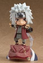 лучшая цена 10CM Anime Naruto Shippuden Jiraiya Gama Bunta Figure Nendoroid 886# PVC Change face GSC Action Figure