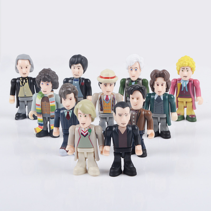 Elsadou Doctor Who Action Figures The Eleven Doctors Micro-Figures Set by Underground Toy the salmon who dared to leap higher