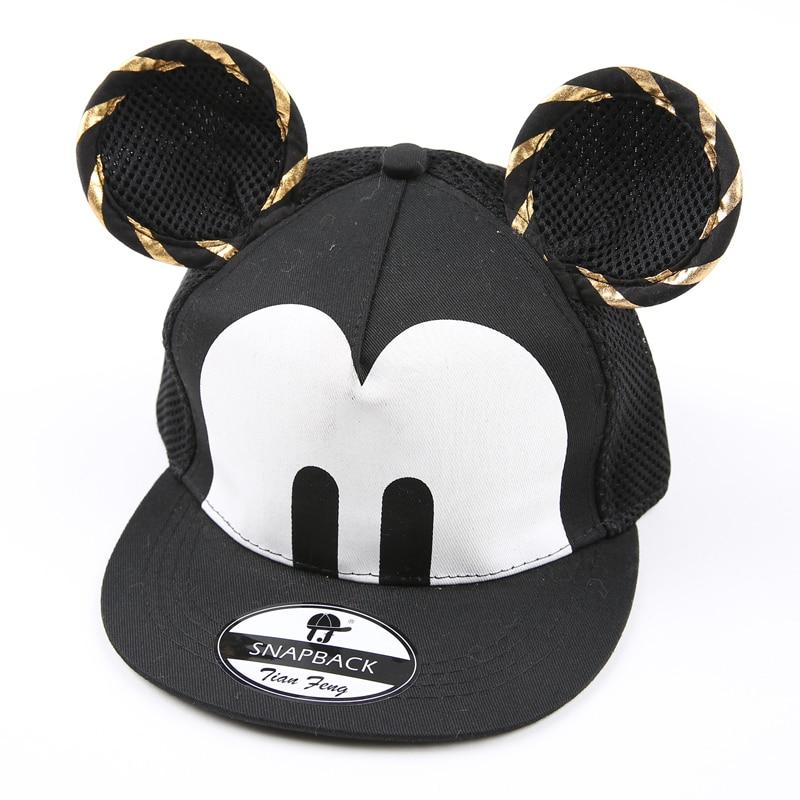 Prix pour 2016 bande dessinée mignon Mickey enfants casquette de baseball big ear souris Snapback marque hip - hop cap os aba reta gorra enfants Chapeau