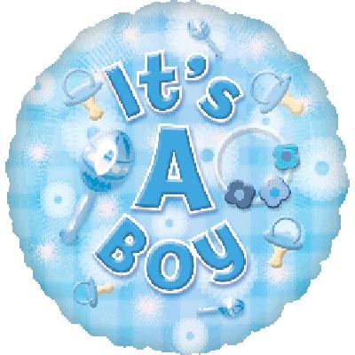 NWBBOY New Baby Foil Balloon Blue