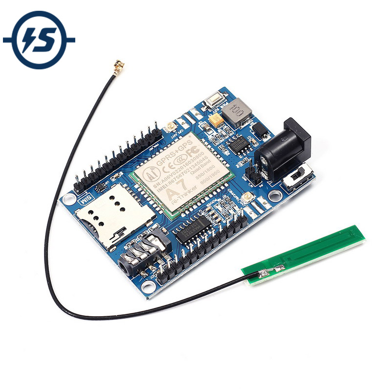 US $14 99 |Wireless Module A7 GSM GPRS GPS 3 In 1 Module Shield DC 5 9V for  Arduino STM32 51MCU Support Voice Short Message Universal -in Integrated