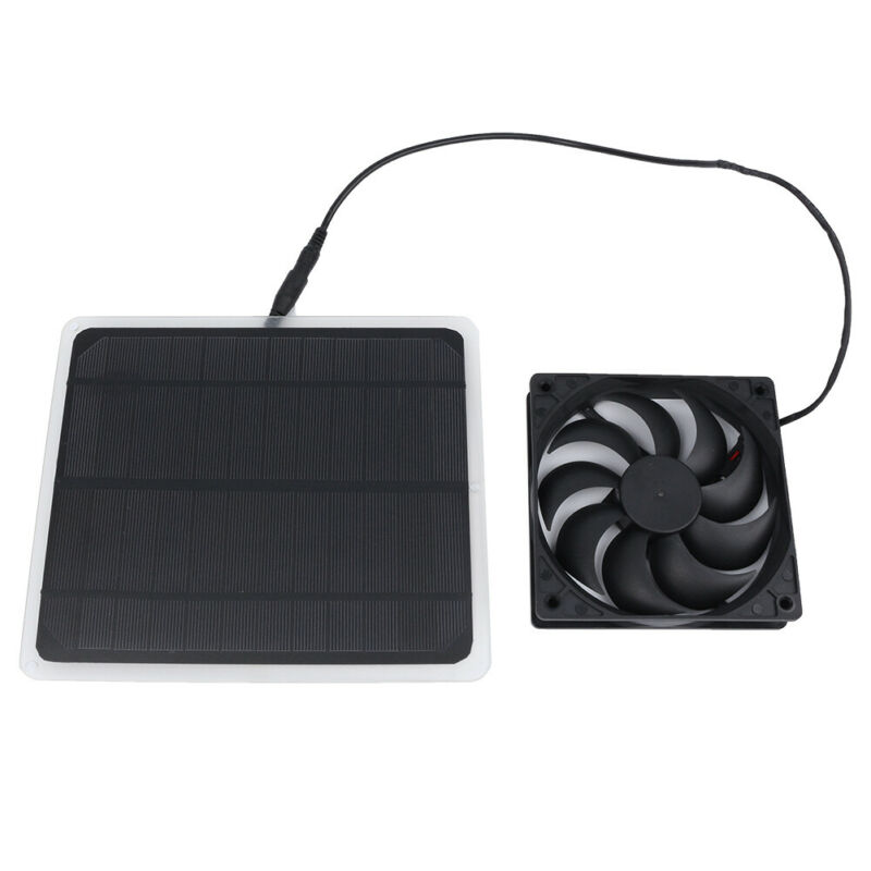 10W Solar Power USB Fan Mini Ventilator For Greenhouse Pet/Dog Chicken House Hot