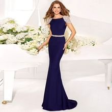 2015 Fashion Lady Womens Sexy Evening Dress With Crystals Robe Abendkleider Gowns Elegant Long Dresses