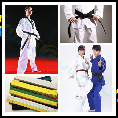 Nice Lote Tres Cinturones De Karate.poco Uso Soft And Light Sporting Goods