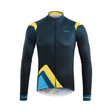 ARSUXEO New Breathable Spandex Long Sleeve Cycling Jersey Men Full Zipper MTB Road Mountain Bike Wear Autumn Bicycle Clothing
