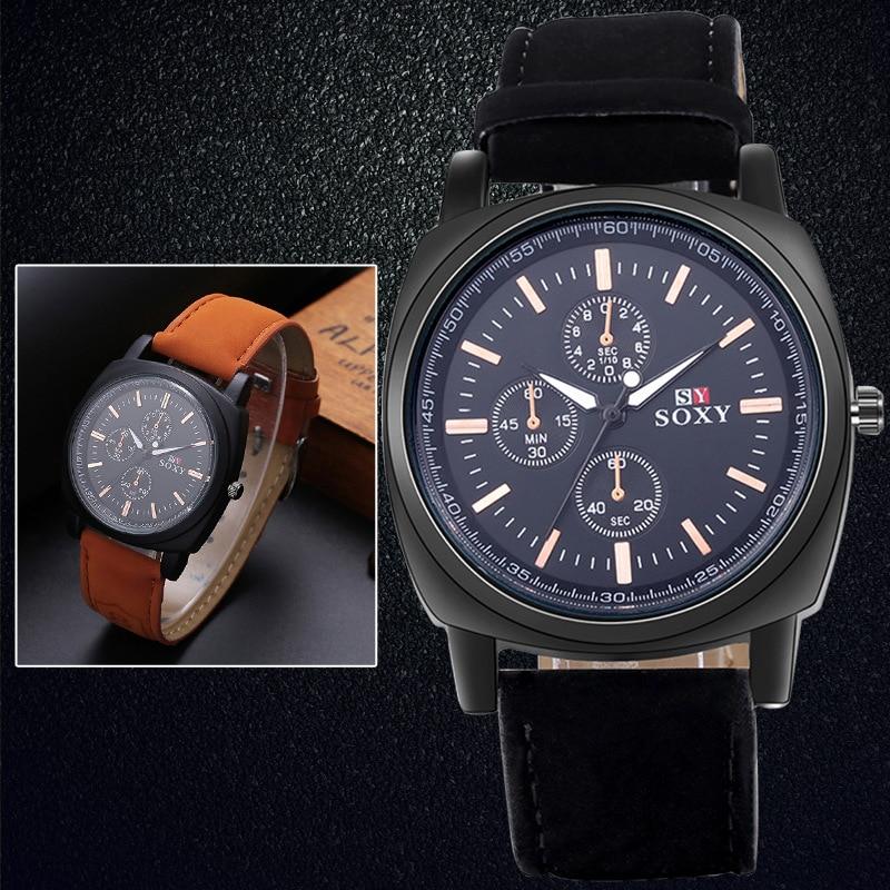wysokiej jakości zegarki męskie męskie Wrist Watch Quartz - Męskie zegarki - Zdjęcie 2