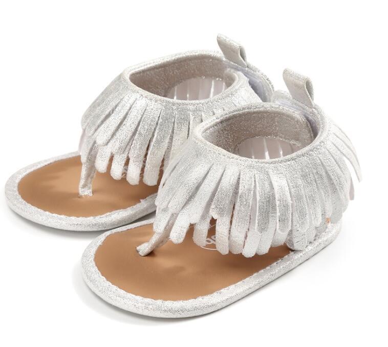 2018 hot sale kid crib sandal shoes Leather Tassels Baby Girl Soft Sole Toddler Shoe Tassels Non-slip fashion Sandals Moccasin