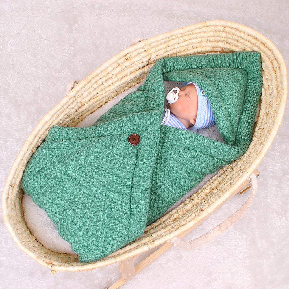 Hot DealsEnvelope Sleeping-Bags Knitted-Cocoon Newborns Baby Bebes Winter Swaddle-Wrapper Infantil