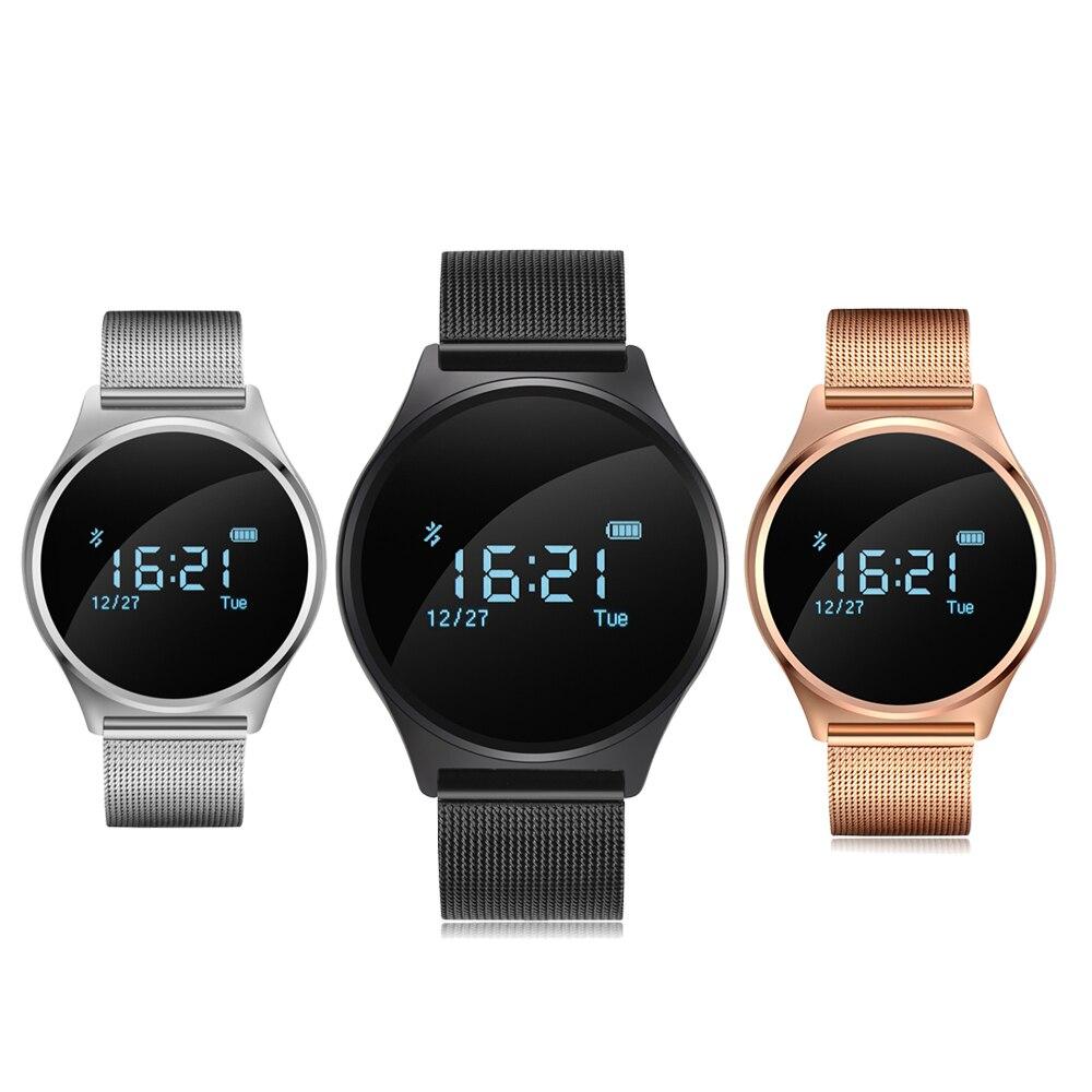 imágenes para Smartch M7 Ronda Bluetooth Reloj Inteligente de La Presión Arterial y Monitor de Ritmo Cardíaco Del Deporte Pulsera Inteligente para Android IOS PK K88H