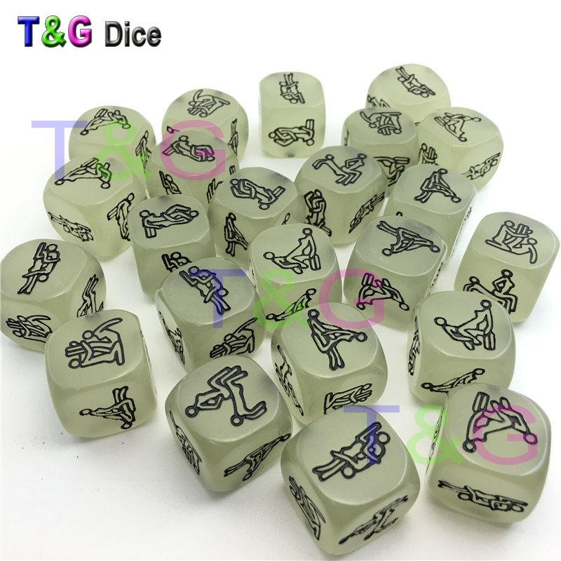 Lowest Price 1PC Sex Funny Noctilucent Adult Glow Dice Game Love Humour Gambling Romance Erotic Crap Toy