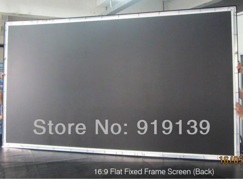 Big Cinema Size 135 Inch Flat Fixed Frame Screen 16:9 Wall Mount ...