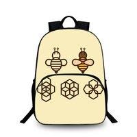 Sunflowers baobeiku و العسل 3d موضة حقائب الظهر الطباعة الإبداعية للاطفال أطفال حقيبة المدرسة محمول جديد