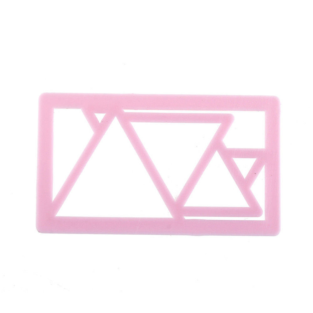Triangle Cookie Cutter Plastic Biscuit Mold Fondant Cookie Mold DIY Cake Decorating Tools Baking Cake Decor Cutting Dies Mold