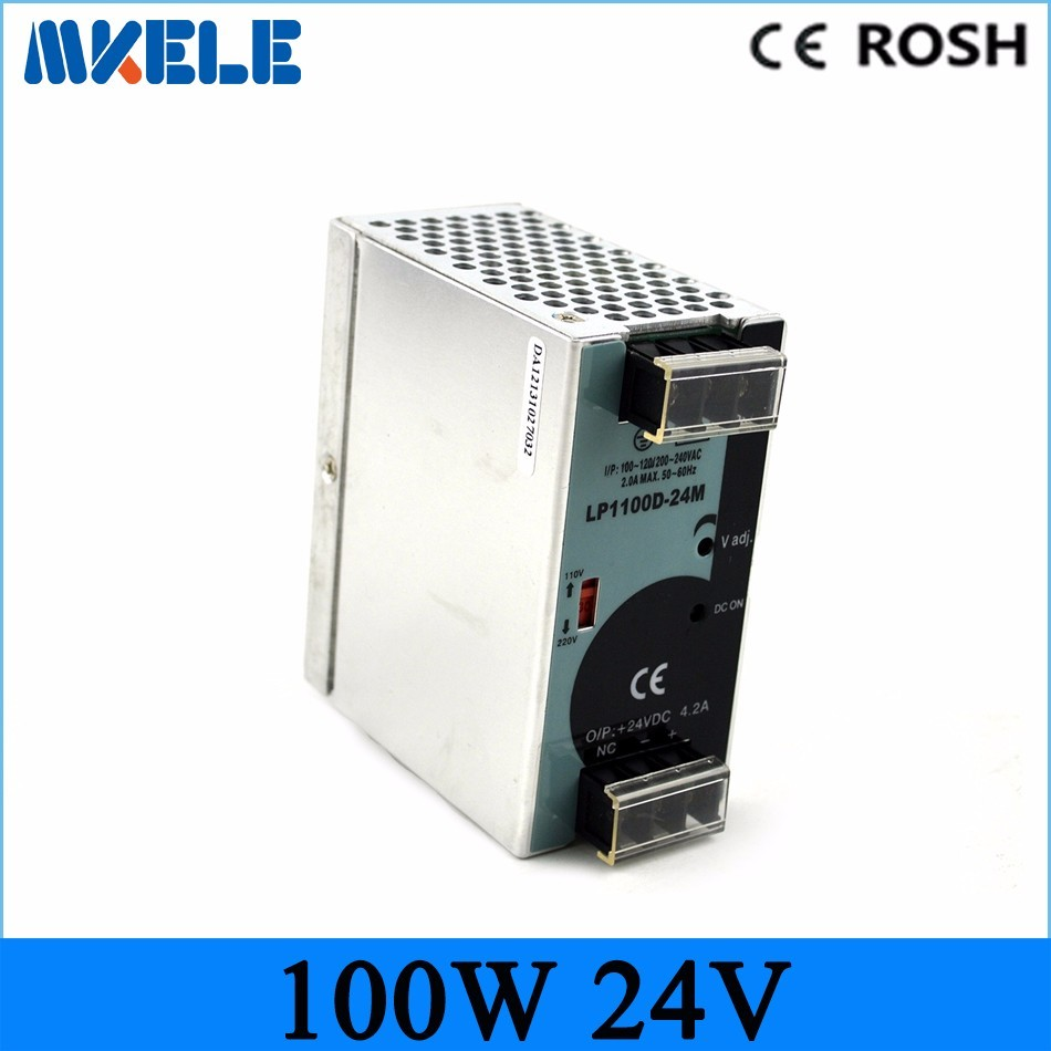 цена на 100w 24vdc 4.2A din rail power supply LP-100-24 Mini size Din Rail Single Output 24v ac dc Switching power supply led driver