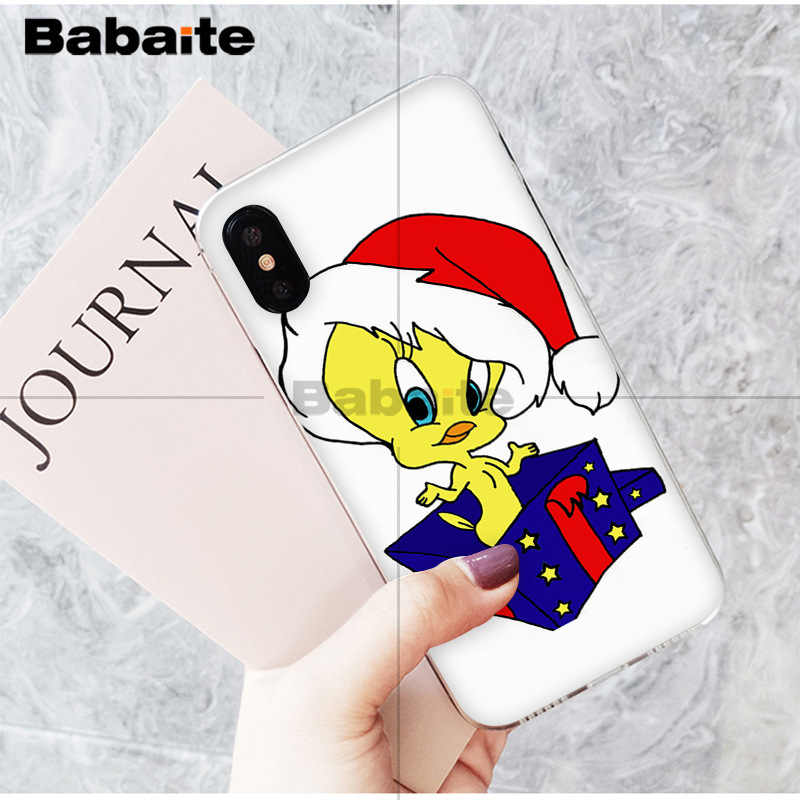 ea540fb4f93 Babaite amarillo dibujos animados tweety bird colorido lindo teléfono  accesorios funda para Apple iPhone 8 7 6 6 s Plus X XS MAX 5 5S SE XR fundas
