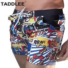 Taddlee Brand Men's Swimwear Swimsuits Board Surf Shorts Plus Size XXL High Rise Traditional Basic Swim Boxer Trunks Swimming