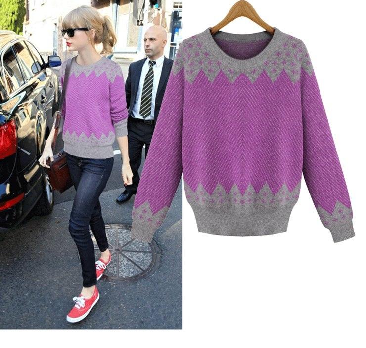d446d776a5d8d Moda 2016 Patchwork suéter para Mujer de invierno de punto Sweater Jumper  Pull Femme Chandail Jersey Mujer Hiver en Pullovers de La ropa de las  mujeres en ...