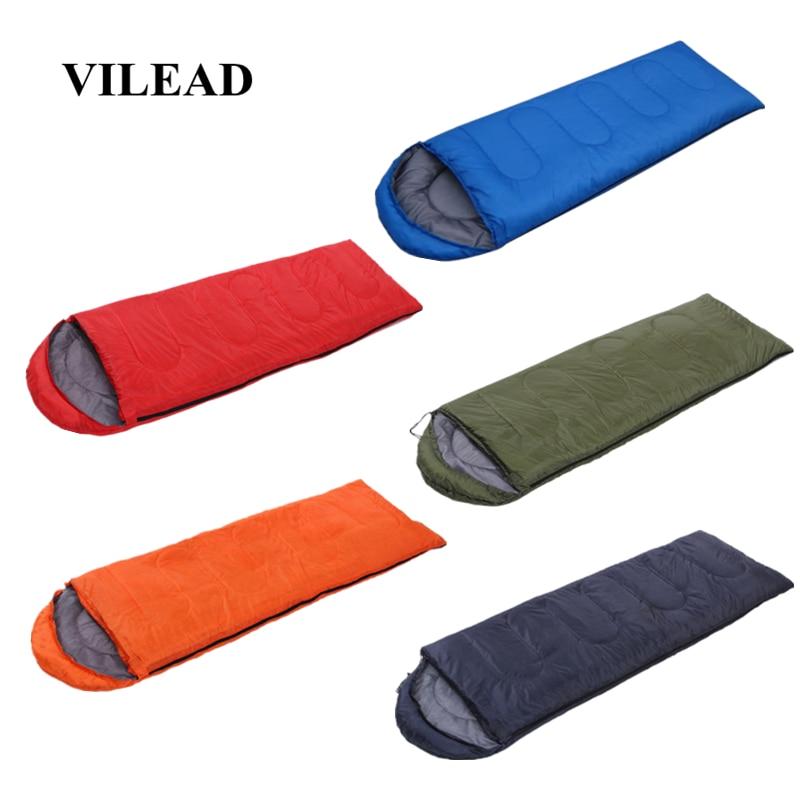 VILEAD 5 Colors Envelope type Ultralight Sleeping Bag Portable Waterproof Summer Hiking Camping Stuff Adult Quilt Lightweight-in Sleeping Bags from Sports & Entertainment