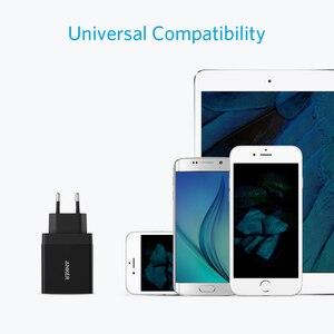 Image 4 - Anker 24 واط 2 Port USB الجدار شاحن (الاتحاد الأوروبي/المملكة المتحدة التوصيل) وتكنولوجيا PowerIQ آيفون ، آي باد ، غالاكسي ، نيكزس ، HTC ، موتورولا ، LG الخ