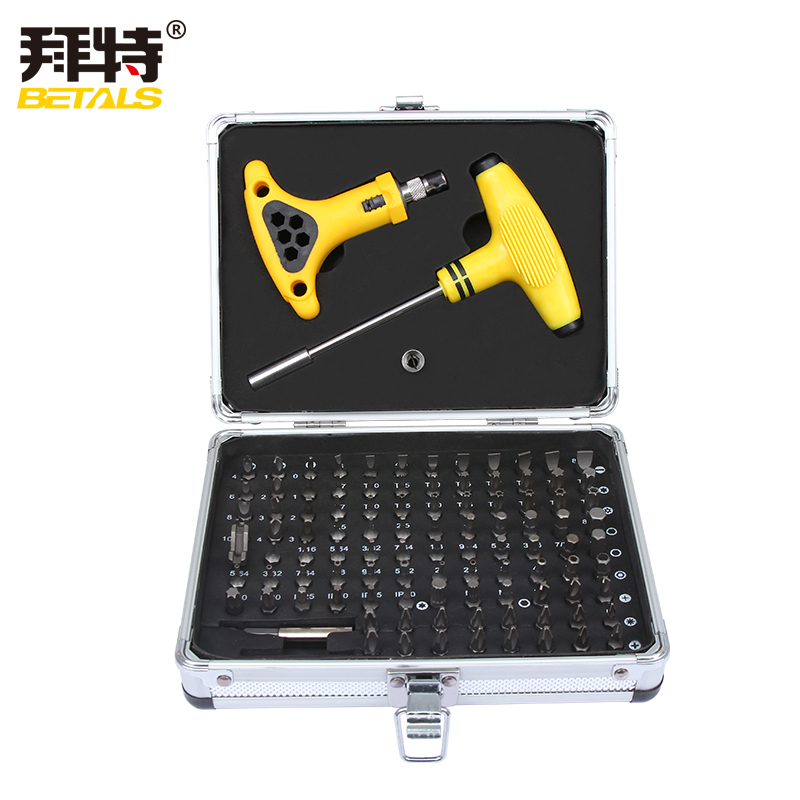 Betals 105 in 1 Screwdriver Bit Set Household Appliances Maintenance Tools Electronics Maintenance Ratchet Sockets Hand Tool Set betals multi function tool box 92pcs set screwdriver bits set ratchet wrench socket household electrical maintenance tools sets