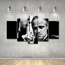 Artistic originality The Godfather Corloene Mafia Classi print poster canvas in 5 pieces with Framed20x35cmx2,20x45cmx2,20x55cm