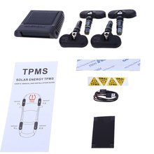4 Internal Sensors TP – 810 Solar Power Supply TPMS Car Tire Pressure Monitoring Intelligent System with LED Display Screen