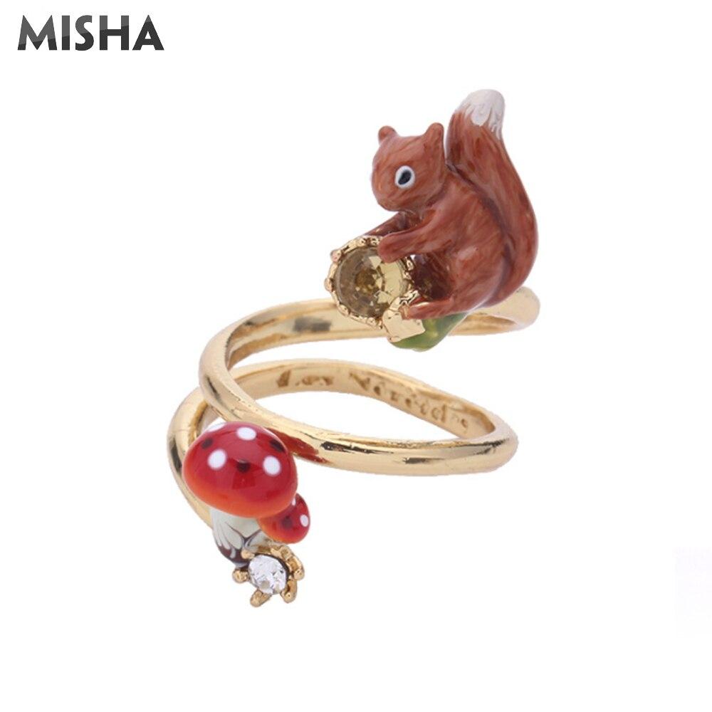 MISHA anneau pour femmes fait à la main émail glaçure rétro anniversaire anneaux pour femme ami cadeau fête anneaux L573