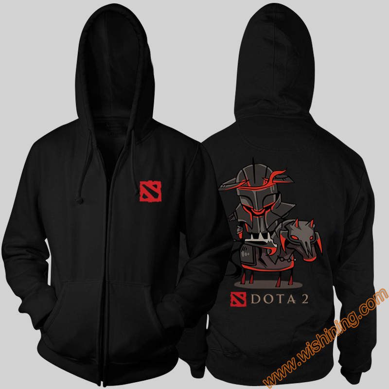 DOTA 2 hero Hoodies DOTA 2 Chaos Knight Black 3xl Large Size Hoodie DOTA2 Full Zipper Hooded Sweatshirts Wishining