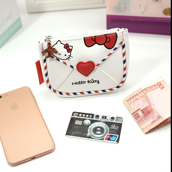 Hello Kitty PVC Travel Cosmetic Bag The Latest Fashion Red And White Classic Vintage Envelopes In 2018