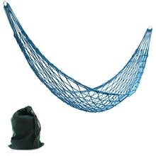 Portable Furniture Mesh Hammock Ultra Light Outdoor Camping Hammock Children Garden Swing Chair Dormitory Soft Bed Gifts