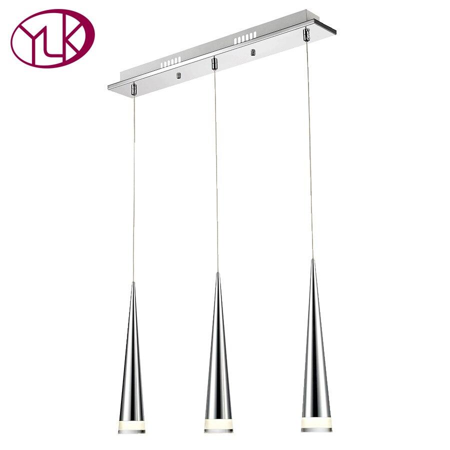 ⓪Youlaike moderno LED colgante de luz para comedor rectángulo 3 ...