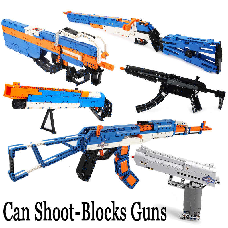 Revolver Pistol Power GUN Technic call of Military duty Building Blocks Brick Weapon SWAT pubg ww2 silah Toys For Boys