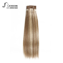 Joedir Hair Pre-Colored Brazilian Remy Human Hair Weave Yaki Straight #34 Color #P6-613 Piano Color Medium Brown Blonde Bundles