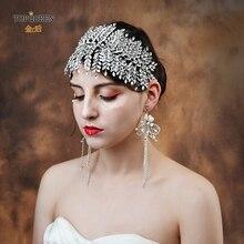 Topqueenファッションジュエリー女性アクセサリー妖精クラウンページェントクラウン美しい王女の髪結婚式の花嫁かぶとHP238