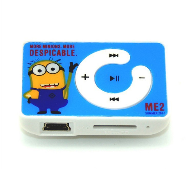 MambaMan Cute yellow Minions Wholesale Quality Minion Mini MP3 Music Player with TF Card Slot for leisure no accessories
