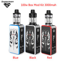 SUB TWO 100W Vape Kit Huge Vapor 3000mah Bulit-in Battery LED Screen Smoke Temperature Control Electronic Cigarette