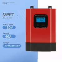 MPPT 60A Контроллер заряда 12 В 24 В 36 В 48 В eSmart3 60A Панели солнечные Батарея регулятор с задней светло Дисплей RS485
