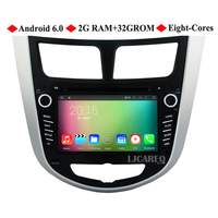 1024X600 7 Quad Core Android 5 1 Car DVD Player For Hyundai Accent Verna Solaris 2011