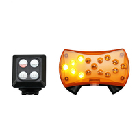 LumiParty Smart Bicycle Tail Light Remote Control Bike Rear laser Light USB Rechargeable 15 LED 8 Flash Modes Turn Lamp