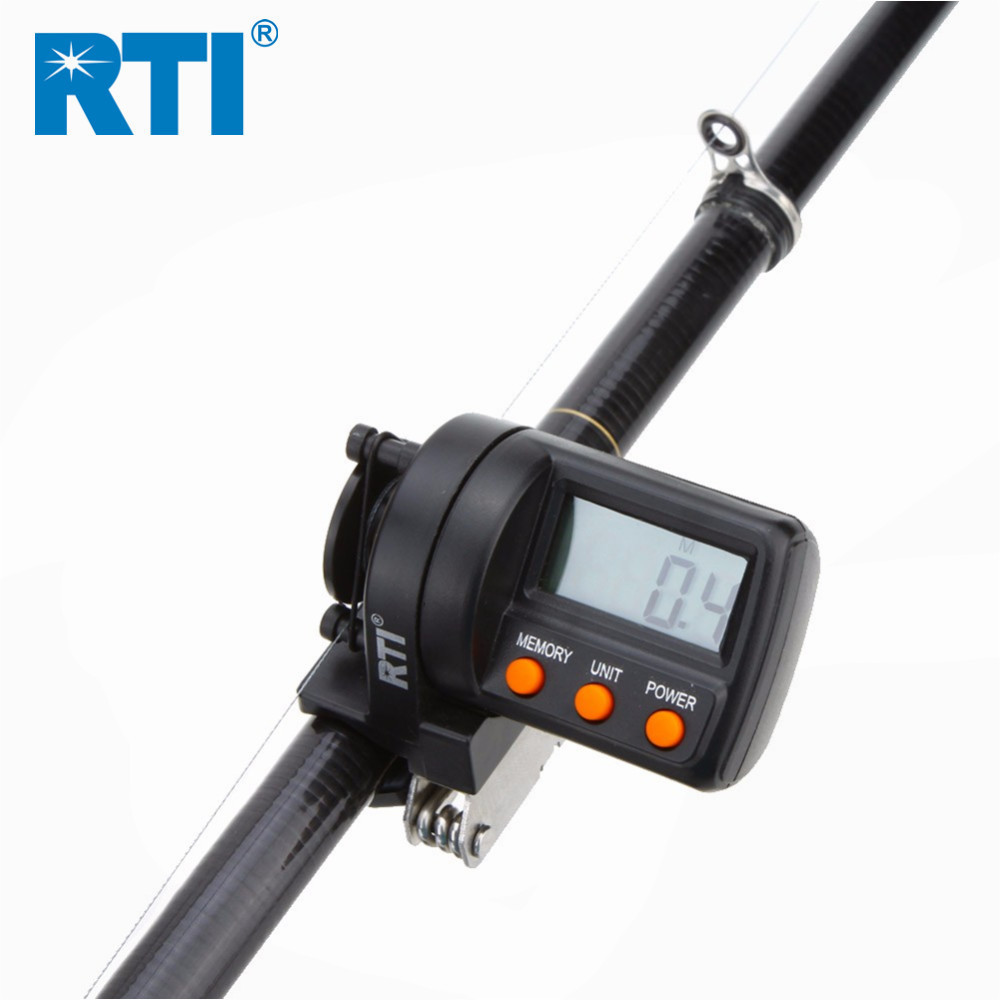 Frete Grátis RTI 999.9m Linha De Pesca Balcão de Plástico ABS Eletrônico Display Digital Medidor Medidor de Profundidade Finder Carretel de Pesca Ferramenta