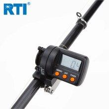 무료 배송 전자 RTI 999.9m 낚시 라인 카운터 ABS 플라스틱 디지털 디스플레이 깊이 파인더 릴 미터 게이지 낚시 도구
