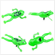 Hot Sale Amusing Swimming Frogs Relax Clockwork Frog Toy Baby Bath Toy Wind Up Toy For Kids Children Gift(China)