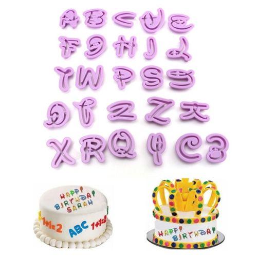 FAROOT 26Pcs Plastic Alphabet Letter Number Fondant Cutter Cake ...