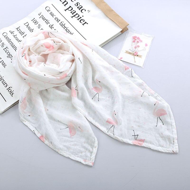 100% Katoen Flamingo Eenhoorn Vruchten Print Mousseline Baby Dekens Zacht Beddengoed Baby Inbakeren Handdoek Voor Pasgeborenen Inbakeren Deken Wees Vriendelijk In Gebruik