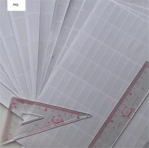 Image 2 - 1000pcs 30*10mm ברור מלבן דבק תווית מדבקה שקופה PVC תווית דבק איטום אריזת מתנה איטום להדביק