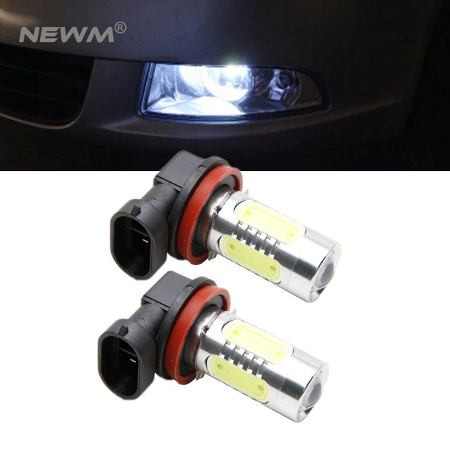 2pcs 11w 500 Lumens Cob Chip H11 Led Car Headlight Fog Light Bulbs