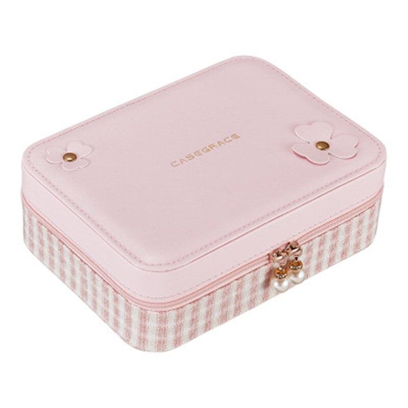 купить 18*6*14cmSmall Blue and pink color Jewelry Box Portable Travel Organizer Jewelry Box the Leather Jewelry Storage Case по цене 1121.96 рублей