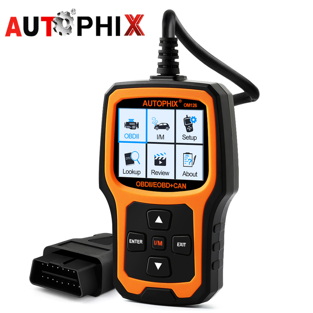Autophix Om126 Diagnostic Tool Obd2 Adapter Scanner Repair Automotivo Obdii Engine Analyzer Code Reader for car diagnostic odb2 universal 38 pin to 16 pin obd obd2 obdii diagnostic adapter connector cable for mercedes benz cy096 cn